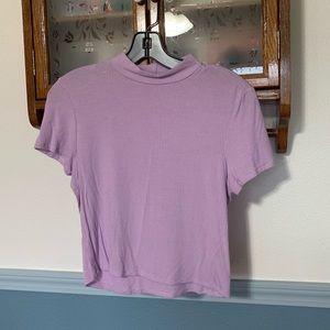 Ribbed Lilac Short Sleeve